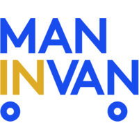 man in van logo